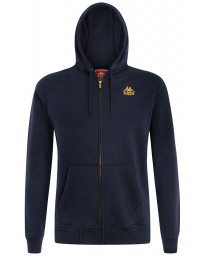 Kappa Men's Zelkal Logo Zip Up Hoodie Dress Blue | Jean Scene