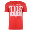 Crosshatch Printed Reverse One Logo T-shirt Tango Red Image