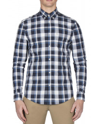 Ben Sherman Stretch Men's Poplin Shirt Navy | Jean Scene