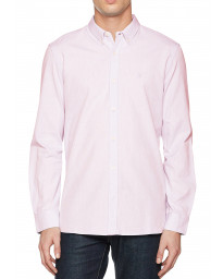French Connection Oxford Long Sleeve Shirt Sure Pink | Jean Scene