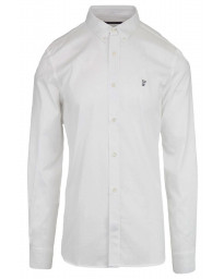 French Connection Oxford Long Sleeve Shirt White   Jean Scene