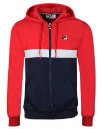 Fila Men's Ambrose Colour Block Track Jacket Chinese Red | Jean Scene