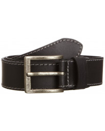 Wrangler Basic Stitched Leather Belt Black Image