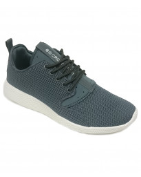Crosshatch Mens Blistering Canvas Shoes Trainers Dark Grey | Jean Scene