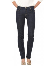 Lee Marion Women's Straight Stretch Jeans One Wash   Jean Scene