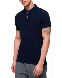 Superdry Men's Vintage Destroyed Polo Shirt Beach Navy Marl | Jean Scene