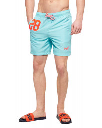 Superdry Water Polo Men's Shorts Light Lagoon Blue | Jean Scene