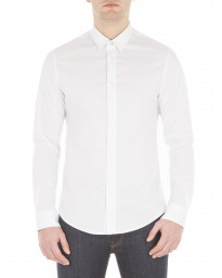 Ben Sherman Stretch Men's Long Sleeve Poplin Shirt Bright White | Jean Scene
