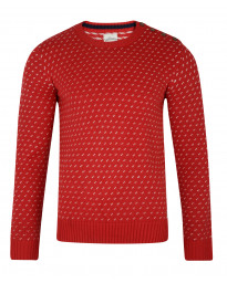 Lee Cooper Merstone Crew Neck Acrylic Jumper Red | Jean Scene