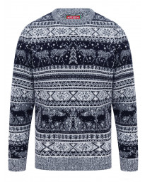 Christmas Jumper Crew Neck Reynisfjall Ink | Jean Scene