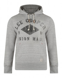 Lee Cooper Overhead Men's Tadworth Hoodie Dove Marl | Jean Scene