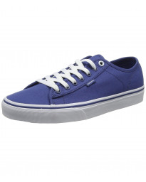 Vans Men's Ferris Low Canvas Shoes Trainers Navy White | Jean Scene