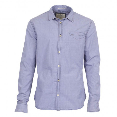 Blend Long Sleeve Check Shirt Blue Image