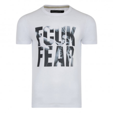 French Connection AJ FCUK FEAR T-shirt White Image