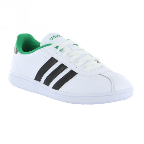 adidas Vlneo Court Leather Trainers White Image