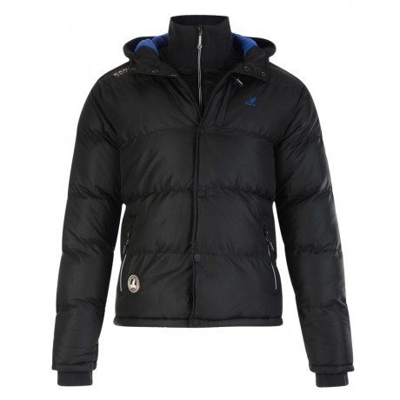 Kangol Glaston Men's Hooded Padded Winter Jacket Black