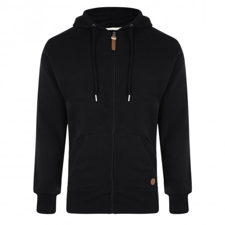 Smith & Jones Kent Full Zip Hoodie Black