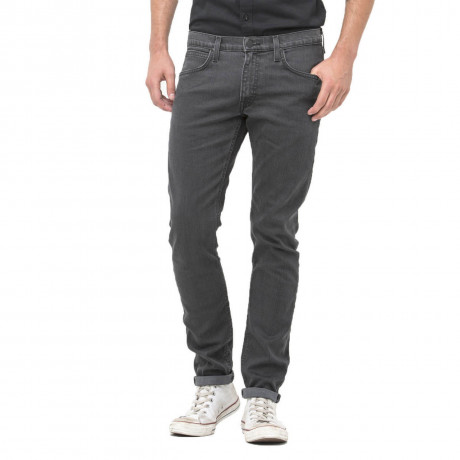 Lee Luke Slim Tapered Faded Grey Spark Denim Jeans Image