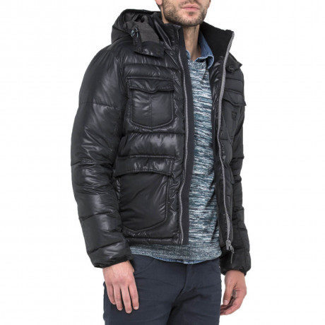 Lee Shiny Puffer Jacket Black Image