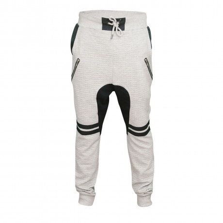 Soul Star Fleece Sweat Pants Furrow Bottoms Grey Melange