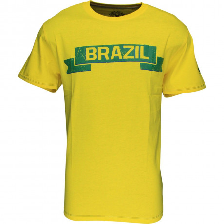 Soul Star Brazil Banner T-shirt Yellow Green Image