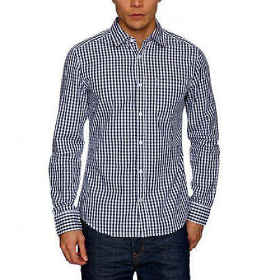 Esprit Slim Fit Long Sleeve Plain Shirt Moonlight Blue