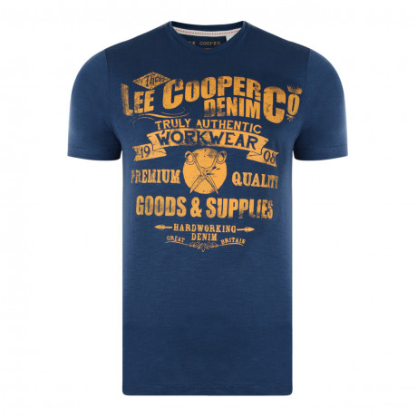 Lee Cooper Crew Neck Print T-shirt Blue Image
