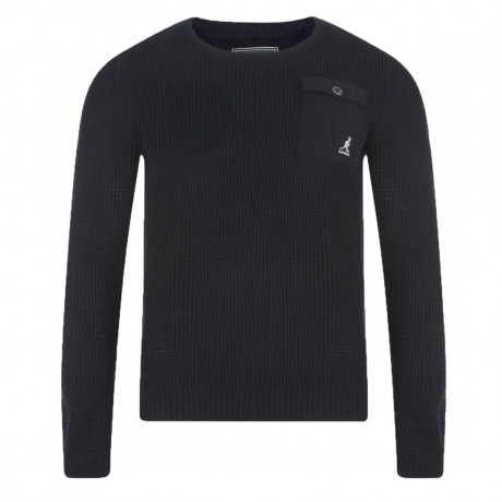 Kangol Tenby Crew Neck Wool Blend Jumper Black