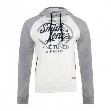 Smith & Jones Titanium Hoodie Lily White