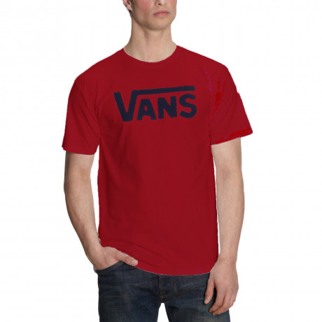Vans Crew Neck Print T-shirt Red Image