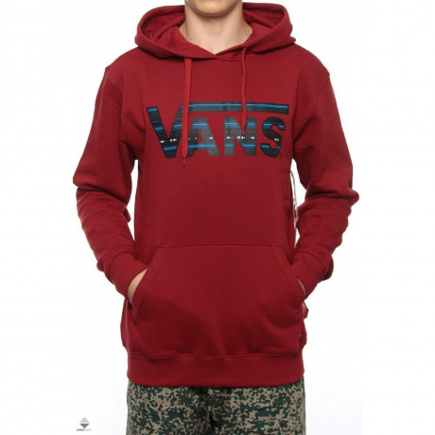 VANS Classic Logo Pullover Hooded Sweatshirt Redrum Image