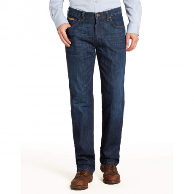 Wrangler Arizona Stretch Denim Jeans Day Sailing Blue Image