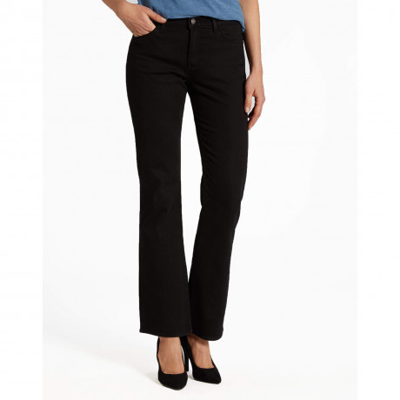 Wrangler Tina Bootcut Stretch Jeans Rinsewash Black Image