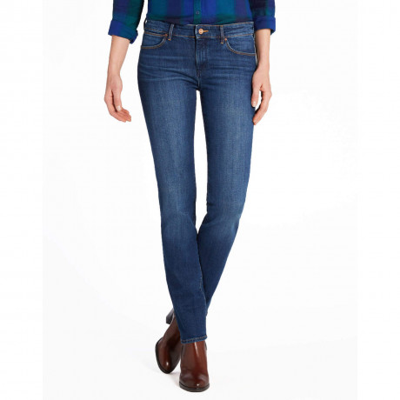 Wrangler Drew Stretch Denim Jeans Blue River Image