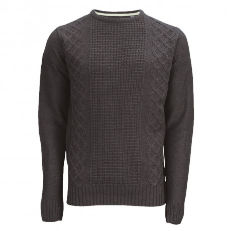 Soul Star Crew Neck Bradbrook Knitted Jumper Charcoal