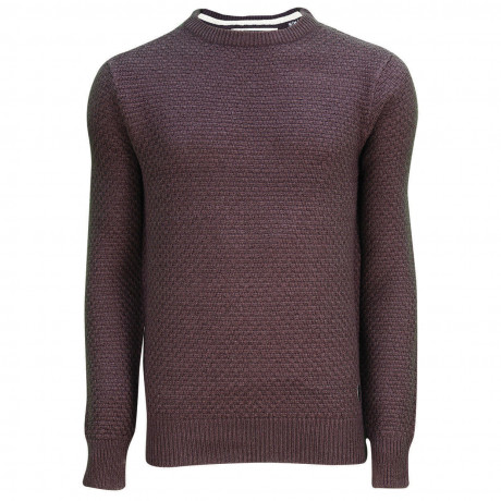 Soul Star Crew Neck Firework Knitted Jumper Plum