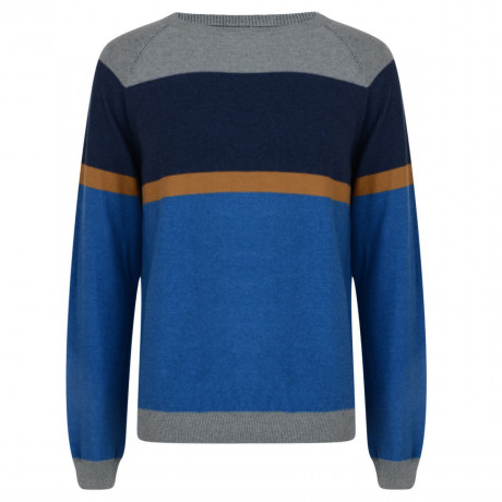 Smith & Jones Crew Neck Stripe Jumper Le Mans Blue Image