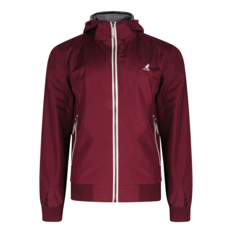 Kangol Hooded Nocton Track Jacket Burgundy Image