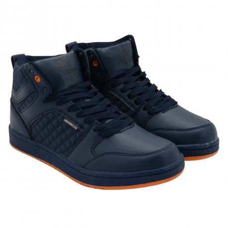 Crosshatch High Top Trainers Navy Blue Image