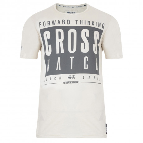Crosshatch Printed Reverse One Logo T-shirt Silver Birch Image