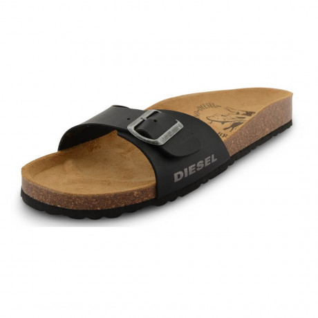 Diesel Mens Summer Beach Sandals Black Image