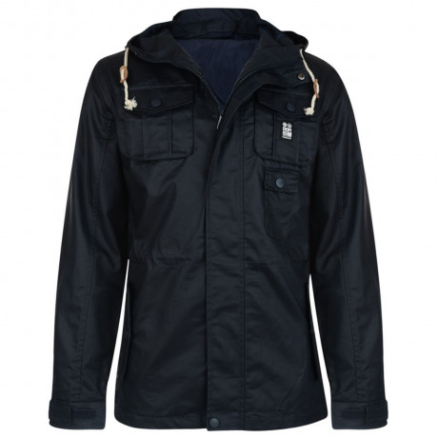 Crosshatch Forlocks Hooded Jacket Navy Blue Image