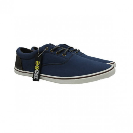 Crosshatch Canvas Shoes Fashion Plimsolls Blue Image