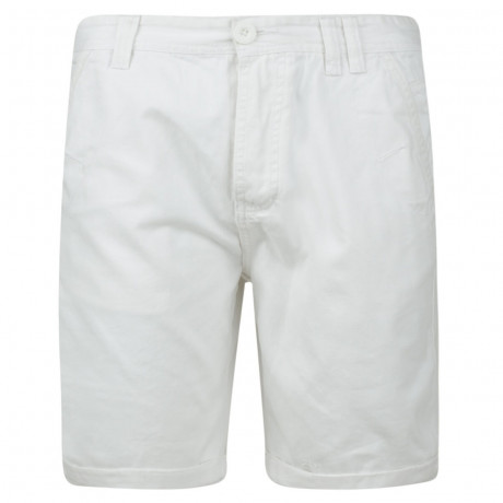 Soul Star Casual Summer Chino Shorts White Image