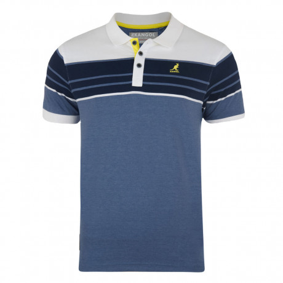 Kangol Polo Pique T-Shirt Light Blue Marl Image