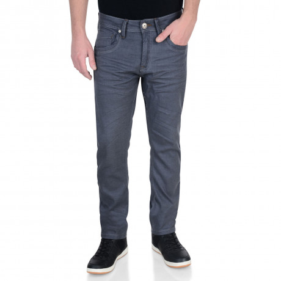 Crosshatch Slim Fit Stretch Jeans Menzo Steel Grey Image