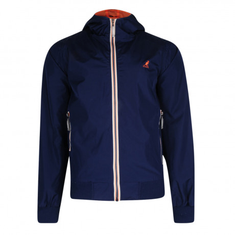 Kangol Hooded Nocton Track Jacket Navy Blue Image