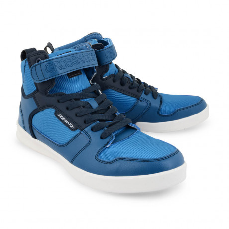 Crosshatch Gacrux High Top Trainers Mykonos Blue Image