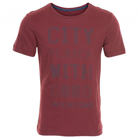 Blend City Player Print T-shirt Burgundy Image