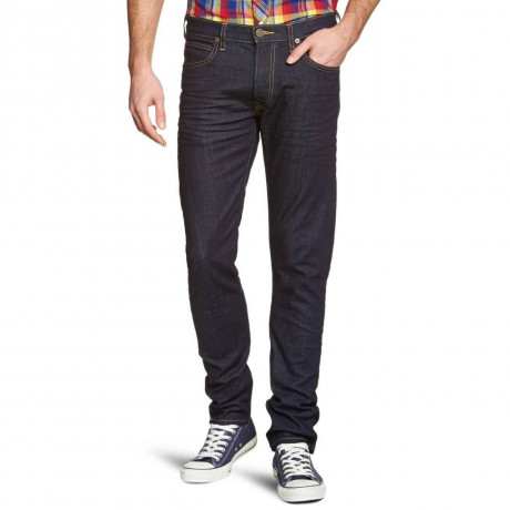 Lee Luke Slim Tapered Dark Top Blue Denim Jeans Image